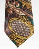 Ambiance floral tie with unusual abstract design Extra long 62 inches